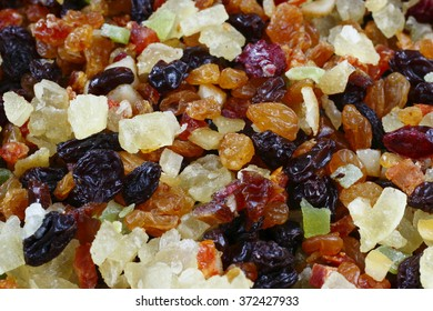 background of prepared mixed fruit to do fruit cakes.
