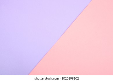 Background of purple and pink paper, pastel colors. Copy space.