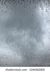 background with rain drops on window