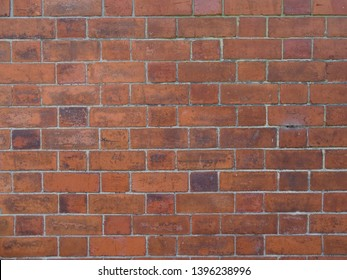 Background Red Brick House Wall Texture Closeup