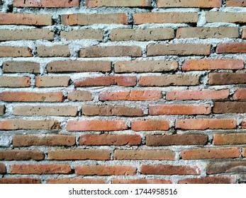 the background of a red brick wall