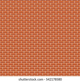 Background of red brick wall. seamless wallpaper illustration. colorful horizontal architecture