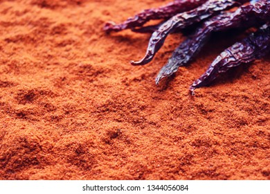 Background of Red Chilli Pepper Powder Also Know as Mirchi, Mirchi Powder, Lal Mirchi, Mirch or Laal Mirchi. paprika Powder background