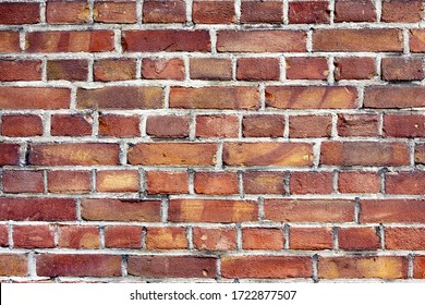 background of red harmonic brick wall
