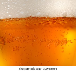 background of refreshing beer / texture