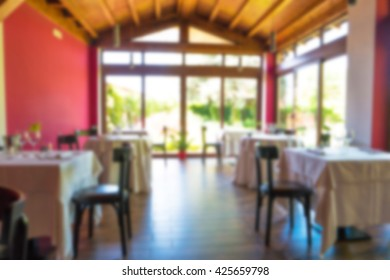background of restaurant with intentionally blur appied