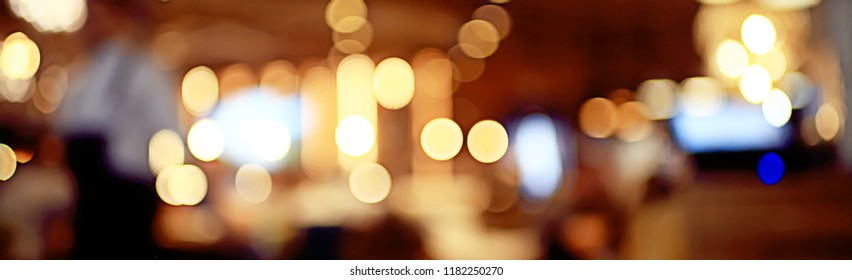 background restaurant / restaurant objects on a blurred background, beautiful bokeh, vintage background color cafe