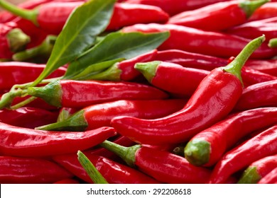 Background of ripe red chili peppers .