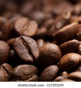 Background of roasted coffee grain