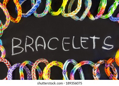 background rubber bracelets