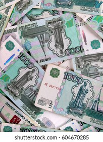 Background of the Russian Paper Money closeup