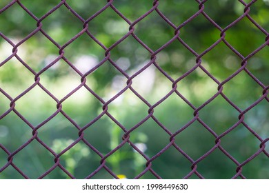 background from rusty iron fense