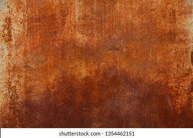 Background of rusty metal texture. Surface of old steel sheet corrosion