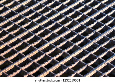 Background of a rusty steel grate