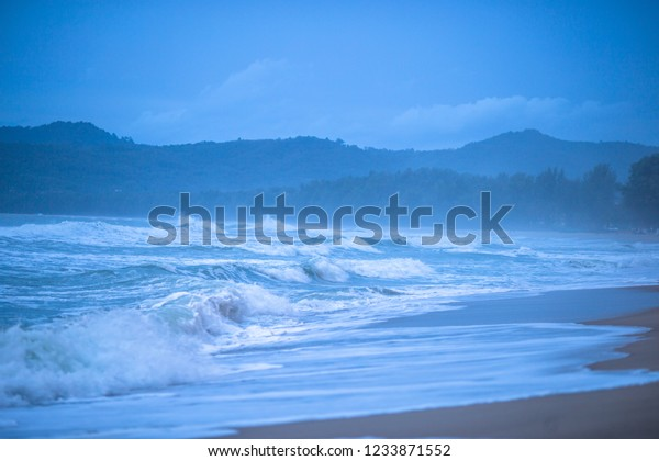 Background Sea Strong Wind Waves Storm Stock Photo Edit Now