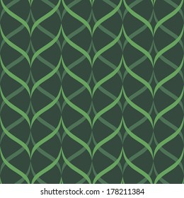 background, seamless pattern with green elements, geometric design, illustration