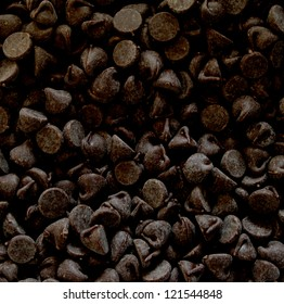 Background of semisweet chocolate pieces