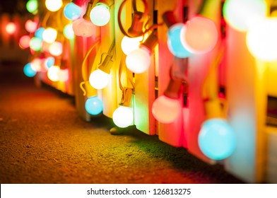 Background series : Colorful light bulbs