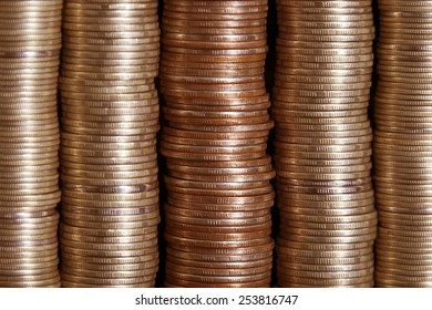 Background set on each other coins
