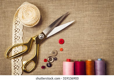 background sewing knitting tools accessories 260nw 319136903