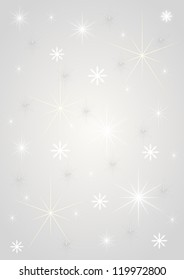 Background silver stars Christmas