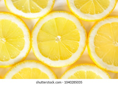 background from slices of lemon