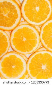 background of slices of oranges