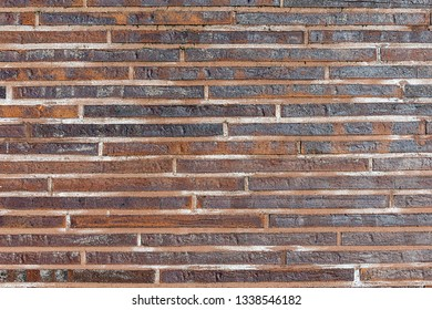 Background from small red clinker bricks
