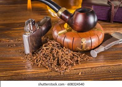 Background smoking pipe