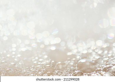 Background of soap foam and bubbles, macro