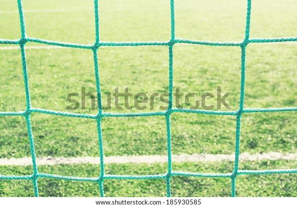 background of soccer goalnet and line