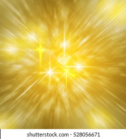 Background of soft golden divine light with golden star and crosses/Background of golden divine light with crosses and star