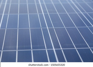 Background of solar panel with selective focus.