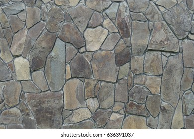 Background - Stacked Stone Wall.