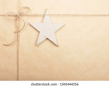 Background with star and twine