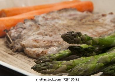 Background steak meal