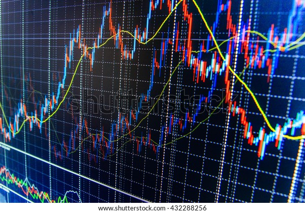 Background Stock Chart Display Quotes Pricing Stock Photo (Edit Now