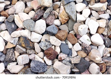 background of stone macadam of different colors