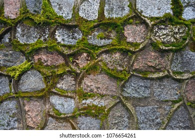 Background of stones and moss