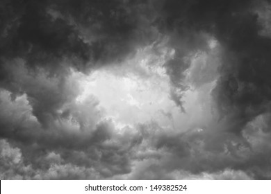 Background of storm clouds