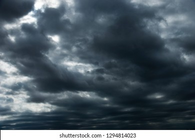 Background of stormy rain clouds