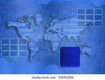 Background with a structure of an circuit board