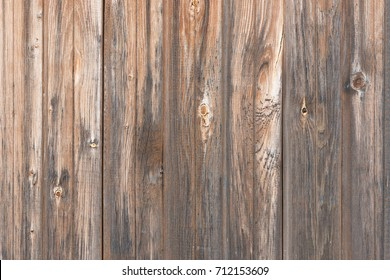 Background in style a rustic from old wooden unpainted boards with knots