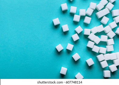 background of sugar cubes