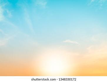 Background sunset sunrise. Sky background.