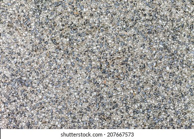 Background surface of black and white terrazzo floor, stone wall abstract.