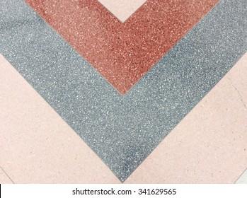 Background surface of terrazzo floor