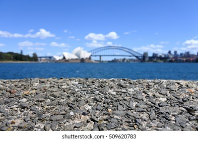 Background of Sydney harbor skyline in Sydney New South Wales, Australia
