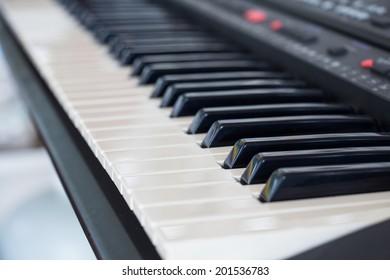 background of synthesizer keyboard