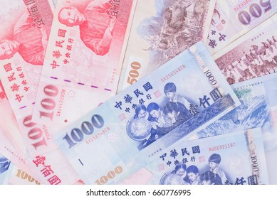 Background with Taiwan money